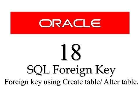 SQL tutorials 18: SQL Foreign Key Constraint