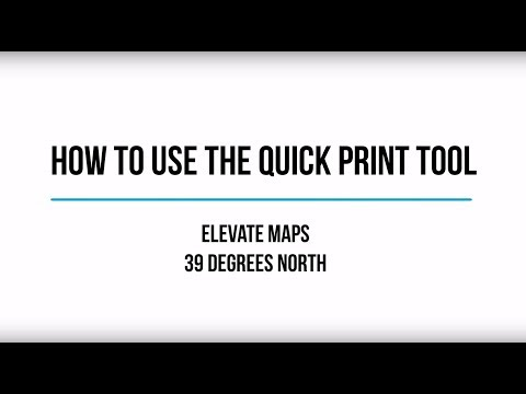 How to use the Quick Print Tool