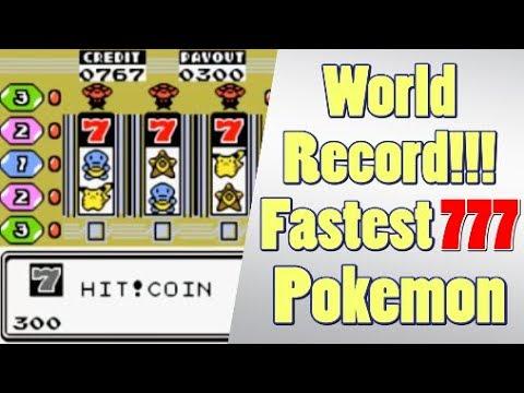 Pokemon World Record - Fastest 777 at Game Corner 37.17 Seconds