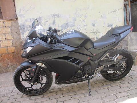 Review Kawasaki Ninja 250cc FI BLACK DOFF 2014 Jakarta