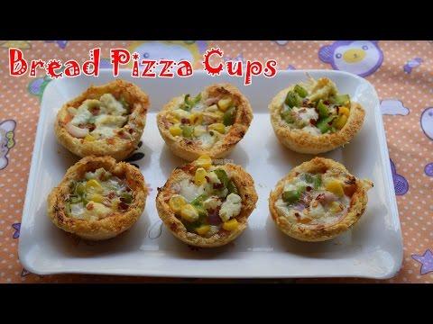 Bread Pizza Cups Recipe |  Magic of Indian Rasoi