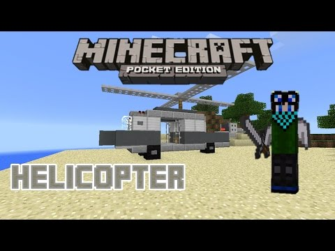 Minecraft PE Tutorial: How to make a Helicopter