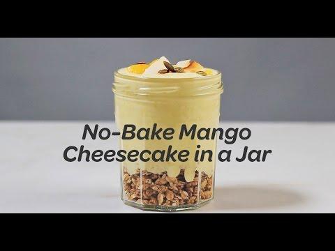 No-Bake Mango Cheesecake in a Jar Recipe | Yummy Ph