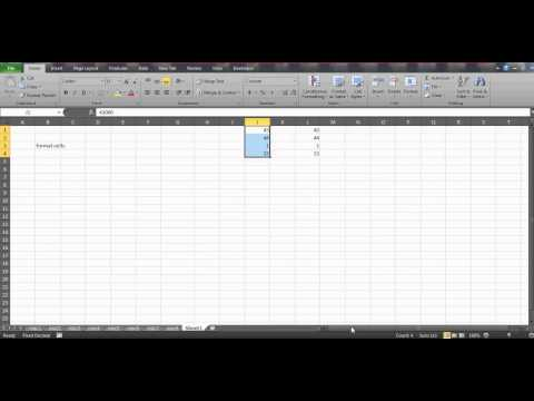 Learn Excel- Video 36- Format cells removing trailing ZEROs