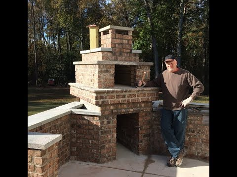 McClelland Wood Fired Outdoor Brick Pizza Oven and Outdoor Kitchen
