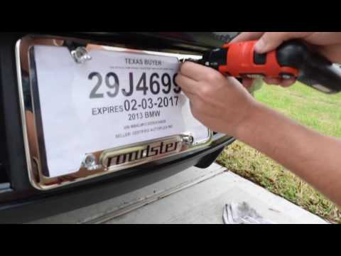 How to install a license plate frame