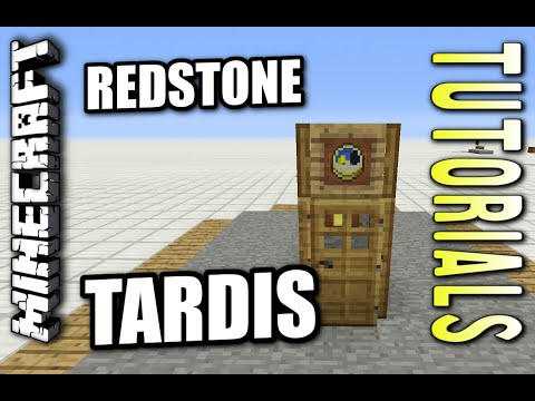 Minecraft PS4 - REDSTONE TARDIS ( HIDDEN DOOR ) How To - Tutorial ( PS3 / XBOX ) WII