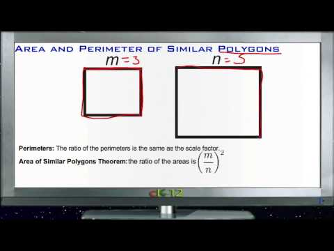 Area and Perimeter of Similar Polygons: Lesson (Basic Geometry Concepts)
