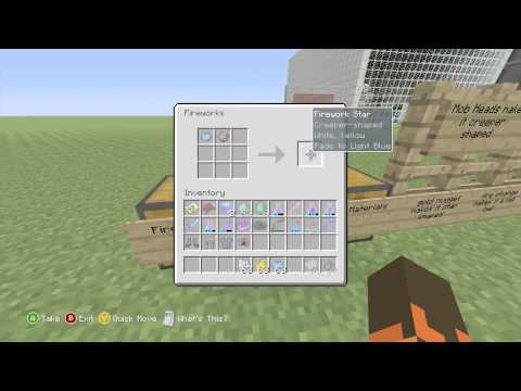 minecraft - How to make custom fireworks on Minecraft xbox