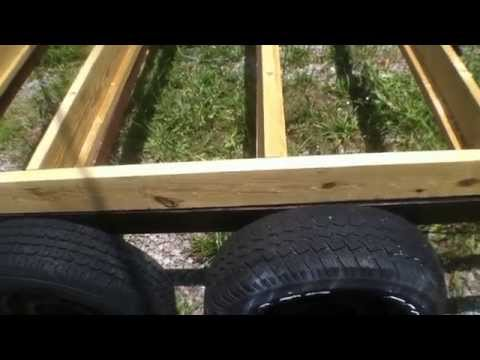 Off Grid Tiny House Build Series(Part 2) Frame mounting the floor joists and insulation prep