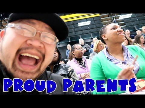 PROUD PARENTS!!!!! //3rd high school gymnastics meet