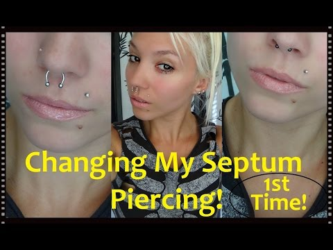 UPDATE & Changing My Septum Piercing-1st Time! | BreeAnn Barbie