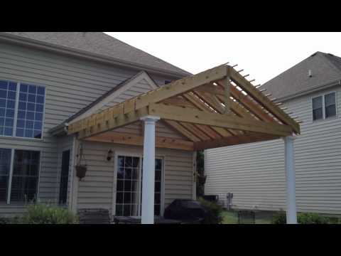 'Gable style' Pergola with Double Rafters by Archadeck