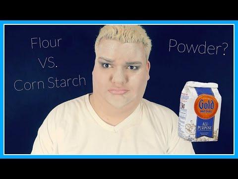 Flour & Cornstarch for face powder?