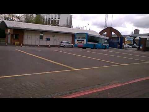 bus leaving belfast europa bus centre