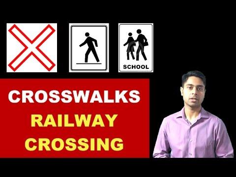 How To Drive At Crossings Railway Crossing Pedestrian Crosswalk School Crosswalk