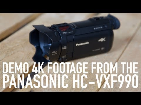 Panasonic HC-VXF990 sample 4K footage 2017
