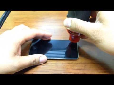 iPOD TOUCH 4G, HOW TO FIX POWER & HOME BUTTON.  COMO REPARAR EL BOTON POWER. (PART 1)