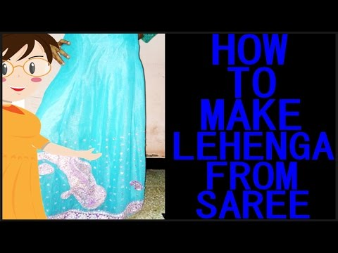 How To Make Lehenga From Saree | Cutting And Stitching | DIY - Tailoring With Usha
