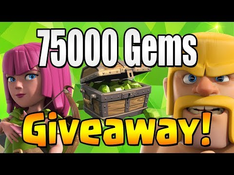 75000 GEM Giveaway!  Town Hall 12 Update CELEBRATION TH12 | Clash of Clans