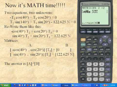 Solving equilibrium with matrices 4B