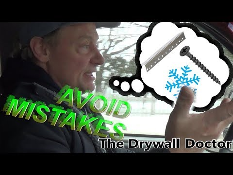 Best Practices for Hanging Drywall, Cold Temps and Dealing with Wood | Driving with the Doc