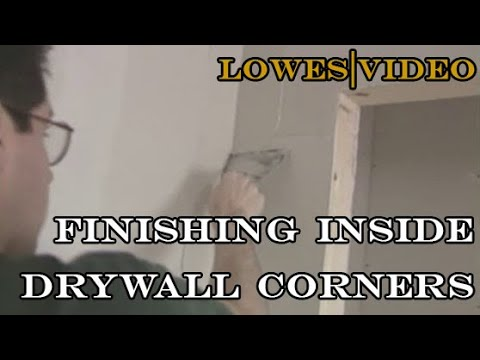 How to Finish Drywall Working Tape Inside Corners and Cover outside corners