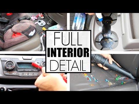How To Clean Car Interior Detailing - Car Detailing The Mini Van...