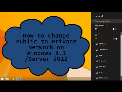 Change Public to Private Network on Windows 8.1/Server 2012