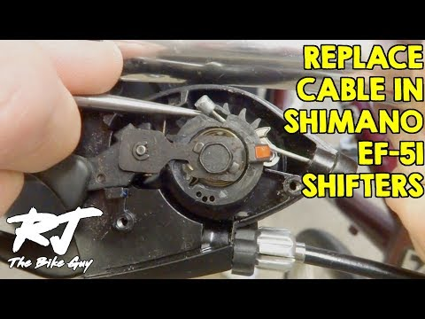 Replace Shift Cable In Shimano EF-51 Trigger Shifters