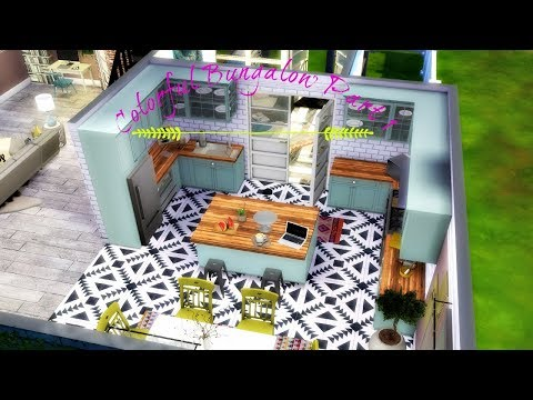 THE SIMS 4 SPEED BUILD: COLORFUL BUNGALOW PART 1 | STEPHY SIMS