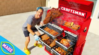 We Made a Barbecue Out of a Tool Box!!