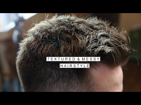 Textured Messy Hairstyle | Men's Short Hair With Fade | Cool Haircut