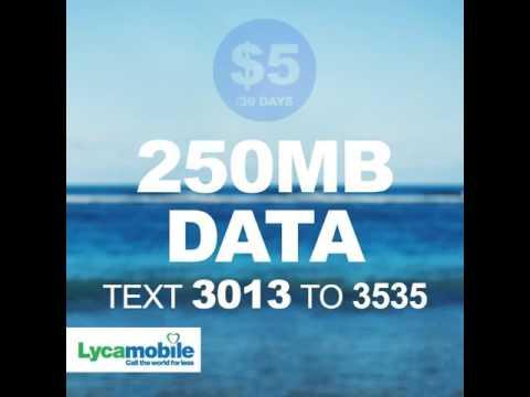 Lycamobile AUSTRALIA: Data Bundles