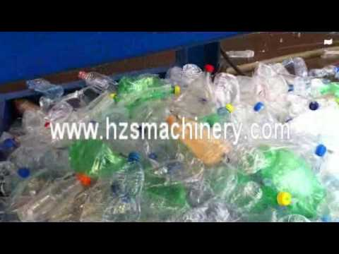 PET bottle label removing machine with high pressure water