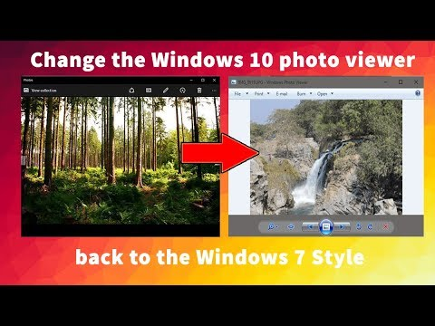 Change the Windows 10 photo viewer back to the Windows 7 Style