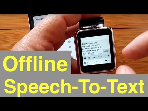 Part 2: Offline Speech-To-Text on Android Smartwatches