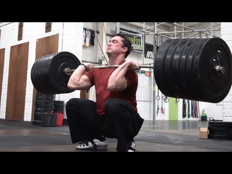 Clarence has a bad day, David has a good day and Eoin front squats a million kg
