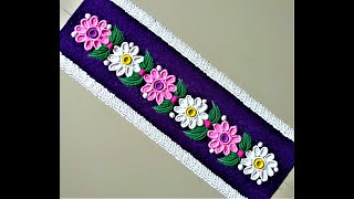 Flower Border Rangoli Designs Using Bangles and Fork|Easy Rangoli by Shital Mahajan