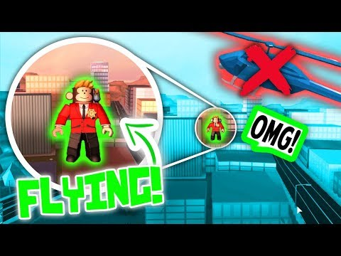 HOW TO FLY IN ROBLOX JAILBREAK!! *CRAZY GLITCH*