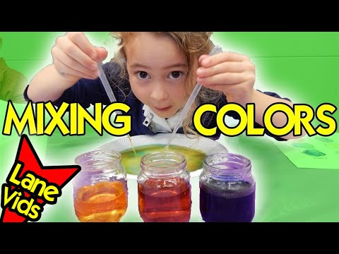 MIXING COLORS PROJECT | Science Experiments for Kids