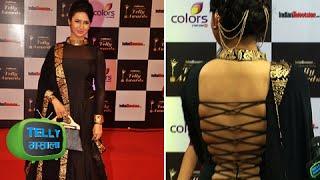 Yeh Hai Mohabattein Ishita Bhalla Hot Black Dress At Telly Awards 2014 RED CARPET