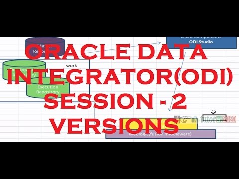 ODI Versions - ODI - Oracle Data Integrator  Tutorial - Session - 2