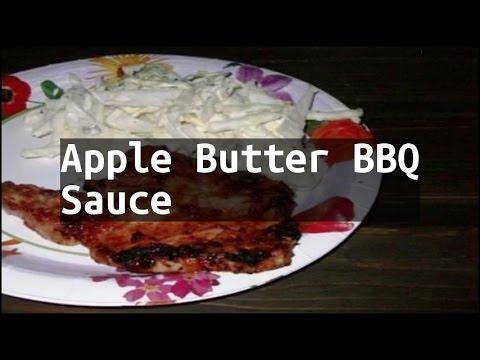 Recipe Apple Butter BBQ Sauce