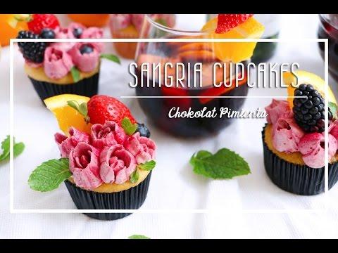 Sangria Cupcakes | Chokolat Pimienta  ♥