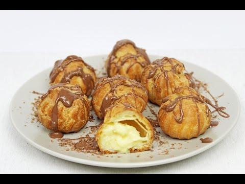 Profiteroles | Profiteroles Recipe | Homemade Custard Cream