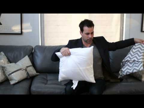 How to Put More Filling in Sofa & Couch Pillows : Couches & Living Room Design