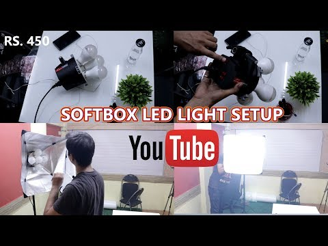 Cheapest SoftBox LED Light for Youtube | SIMPEX PRO HD LED 5 | SOFTBOX SETUP
