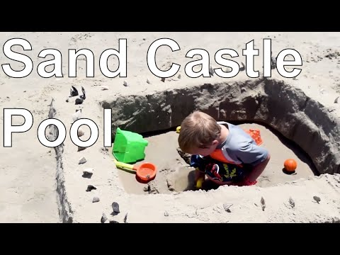 How to Make a Kiddie Pool Sand Castle with Beach Tools | Our Outer Banks, NC Vacation Project