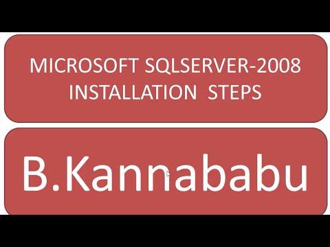 STEPS TO INSTALL SQLSERVER-2008
